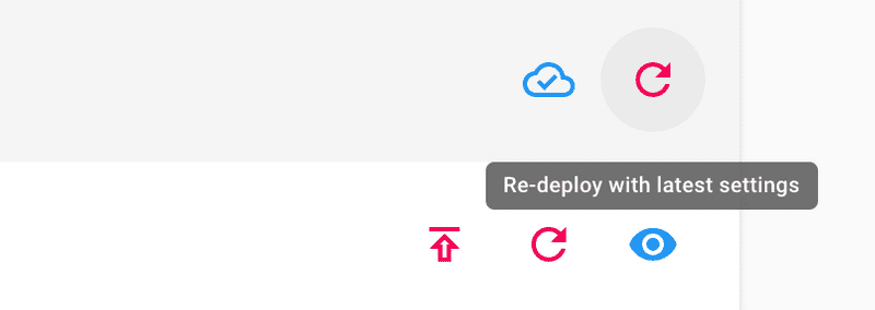 Clodui re-deploy with latest settings